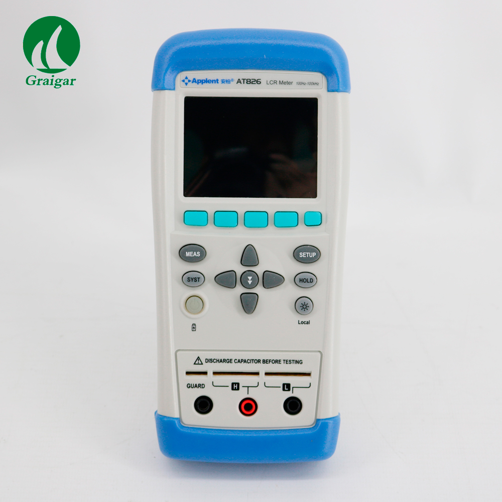 New AT826 USB LCR Meter ESR Tester Electric Bridge Touchscreen TFT-LCD Accuracy 0.2% 100Hz,120Hz,1kHz,10kHz,100 kH L,C,R,Z digital lcr meter high precision at817d 50 hz 100ka hz 10 points l c r z d q brand new