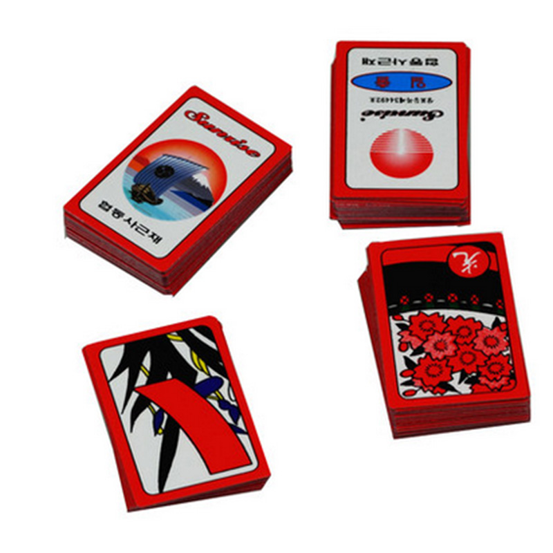 1 PCS Korea Flower PVC Waterproof Mahjong Gostop Go Stop Board Game Cards Popular Family Party Table Game