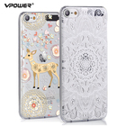 Vpower for ipod touch 6 case 3D Relief Print Back Flip cute girl Cover Phone Bag for ipod touch 6 Phone Cover Case