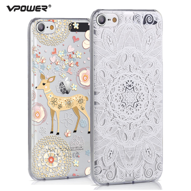the latest 7bfdd 660c9 US $4.99 30% OFF|Vpower for ipod touch 6 case 3D Relief Print Back Flip  cute girl Cover Phone Bag for ipod touch 6 Phone Cover Case-in Fitted Cases  ...