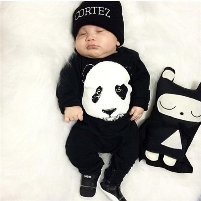 c3a9626682f7 New fashion baby boy clothes cute Panda baby romper newborn clothes ...