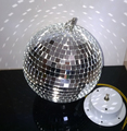1FT 12 inches Reflective Glass Ball Light * LED Disco Crystal Ball Mirror Stage Lighting Effect