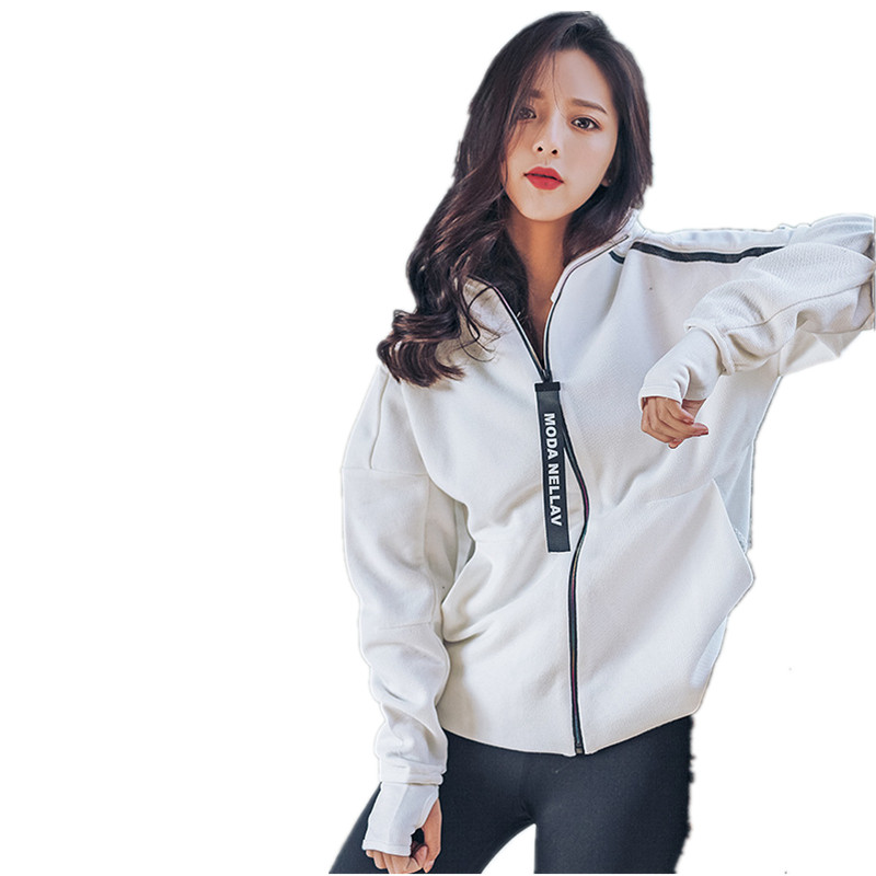 Woman Running Hoodie Jacket Coat Sweaters Sports Women Joggers Training Fitting Fitness Exercise Shirt Gym Long Sleeve Jackets