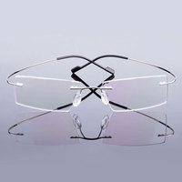 5018 Beta-Ti Designer Marke Stil Flexible Speicher Metall Randlose Brillen Rahmen für oculos de grau Brillen Optische Rahmen