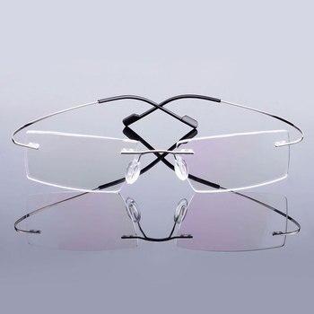 5018 Beta-Ti Designer marque Style Flexible mémoire métal sans monture lunettes cadre pour oculos de grau lunettes optique cadre