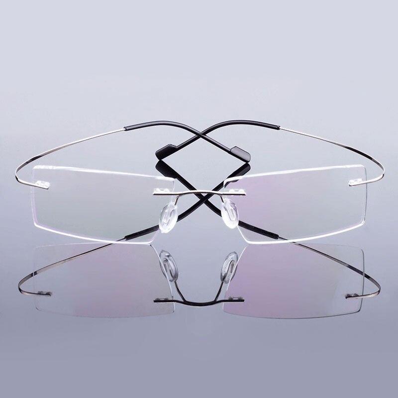 518 Designer Marca Estilo Flexível de Memória Óculos Sem Aro de Metal Quadro para Homens e Mulheres Óculos Frame Ótico