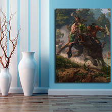 Battle In Ashenvale World Of Warcrafts Canvas Posters Prints Wall Art Painting Decorative Picture Modern Home Decoration Artwork