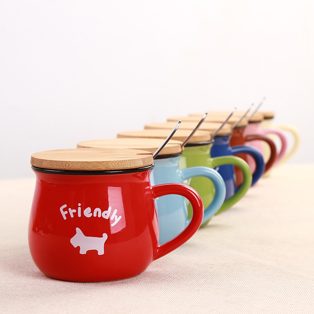 Zakka rétro tasse en céramique créatif Style européen petit déjeuner tasse émail lait tasses mignon tasses Animal image tasse à café beaux cadeaux