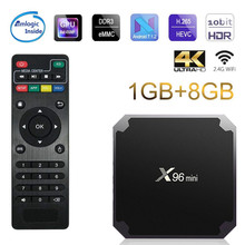Tv Box X96mini Android 7.1 Smart Tv WiFi 4K 2GB 16GB Amlogic 1GB 8GB S905W Tvbox Quad Core WiFi Media Player X96 Mini Set Top стоимость