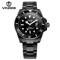 VINOCE Luxury Diving Sports Watches For Men Luminous Business All Stainless Steel Watch Men 2017 Multifunction