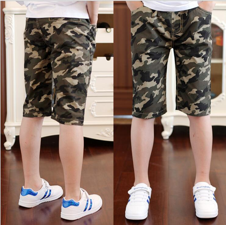 2018 New Fashion Boys Camouflage   Shorts   Summer Cotton Trousers Kids Army Cool Pants Children Loose Sport Camo   Shorts   Sweatpants