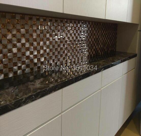 Metal Szkło Mozaika Płytki Mozaika Z Kryształów I Diamentów Kuchnia Backsplash łazienka Prysznic Korytarz Mozaiki ścienne