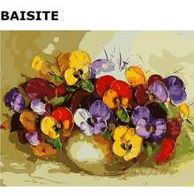 BAISITE DIY Painting Pictures By Numbers Hand Painted Canvas Modern Wall Picture For Living Room Home Decor Wall Art E646(China)