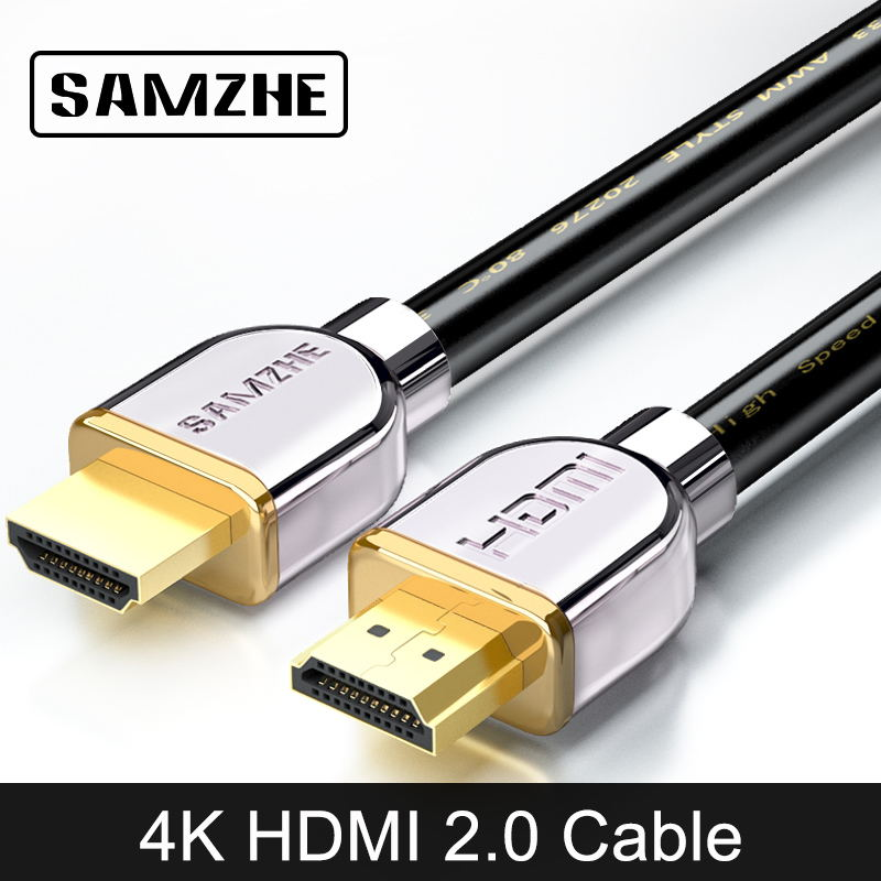 SAMZHE 4 karat * 2 karat HDMI2.0 Kabel 1080 p HDMI2.0 Kabel Gold-überzogene HDMI2.0 Kabel Digital HDMI2.0 Kabel 1/2/3/5/8/10/20/25/30/40/ 50 mt