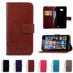 En cuir Impression Téléphone Cas Portefeuille de Couverture Pour Nokia Lumia 535 530 532 640 930 Cas Flip Shell Stand Livre Capa Titulaire de la Carte sangle