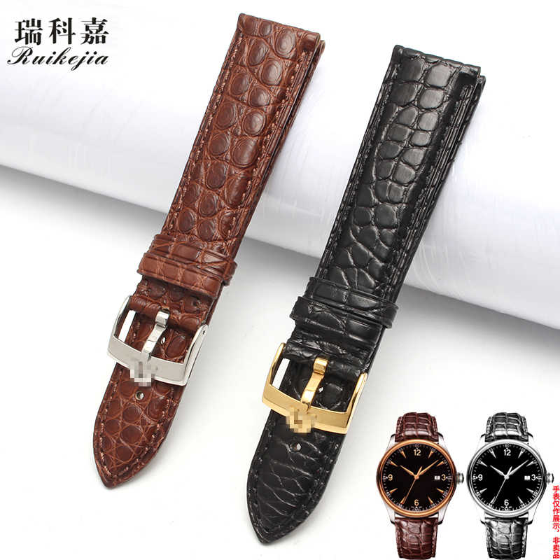 Alligator strap is suitable for Omega strap men's disc flying hippocampus super series 18 19 20 22mm with micro standard