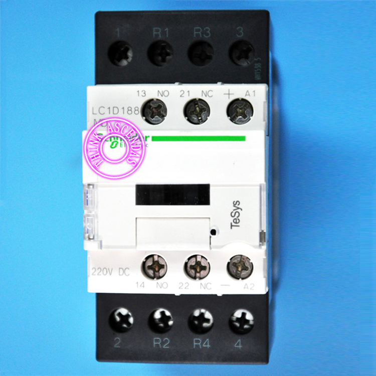 TeSys D Contactor 4P LC1D188 LC1D188GD 125V / LC1D188JD 12V / LC1D188KD 100V / LC1D188LD 200V / LC1D188MD 220V DC sayoon dc 12v contactor czwt150a contactor with switching phase small volume large load capacity long service life