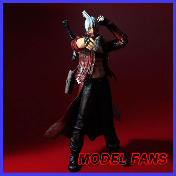 MODEL FANS Play Arts Kai Devil May Cry 3 Dante Vergil Figure 25cm Variant Play Art KAI PVC Action Figure Toy Kid super street fighter iv akuma gouki white variant play arts kai action figure