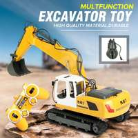 Large RC Excavator 17 Channel 2.4G Remote Control Construction Truck Crawler Digger Tractor Model RC Car Engineering Truck Toy