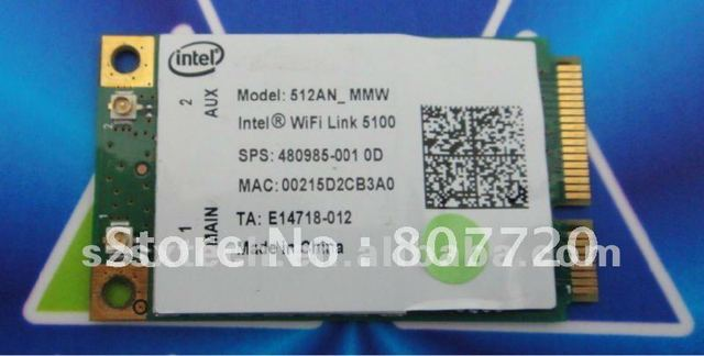100% NEW Intel Wifi link 5100 512AN_MMW wireless mini PCI-E network card for laptop .