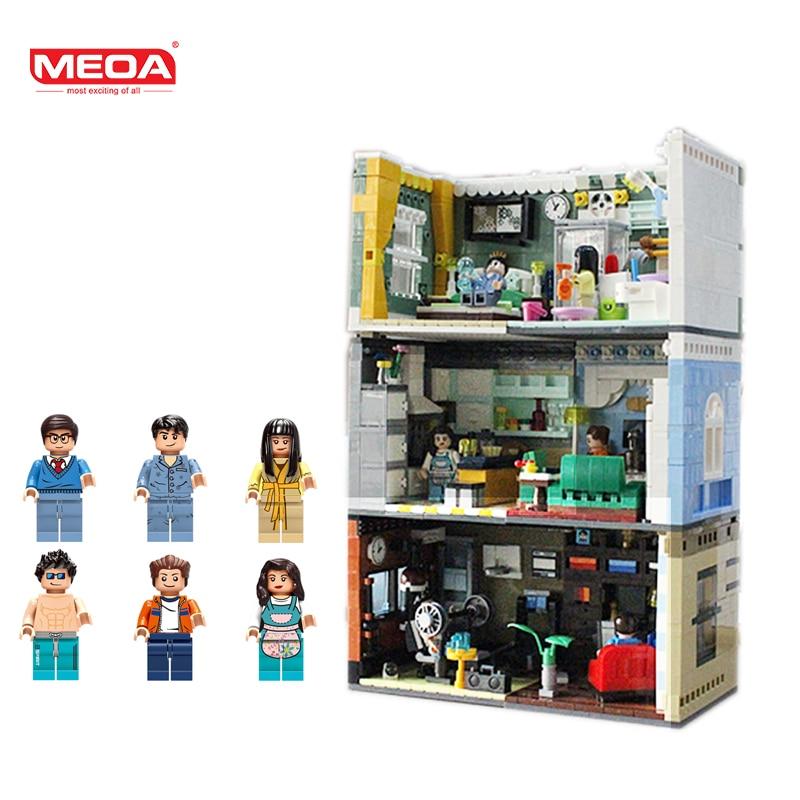 MEOA дом модель мини дома Строительные блоки LegoINGlys город конструктор с фигурки героев кубики MOC детские игрушки для детей