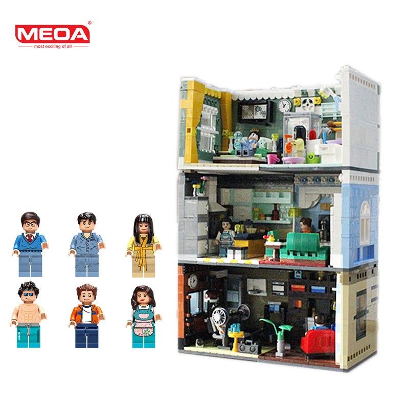 MEOA дом модель мини дома LegoINGlys конструктор строительные блоки с Duplo цифры кирпичи Лепин дизайн детские игрушки для детей
