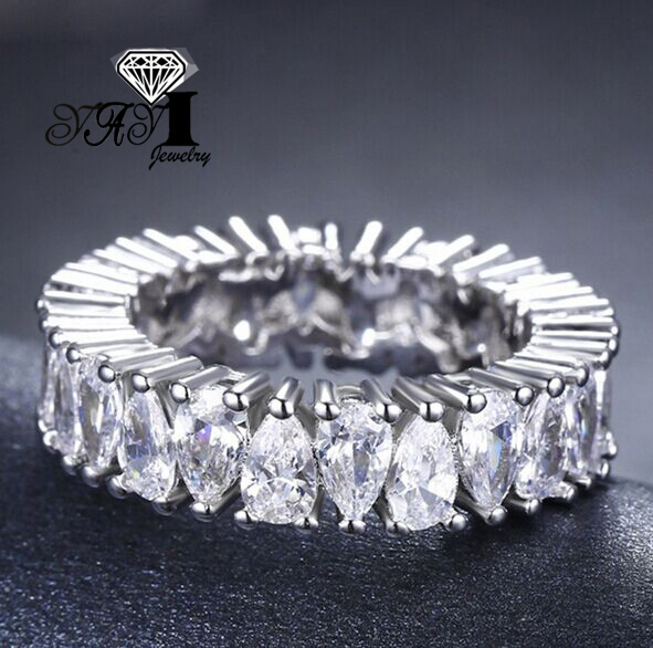 YaYI Jewelry Fashion  Princess Cut  4.7 CT White Zircon Silver Color Engagement  Rings wedding Rings Party Rings