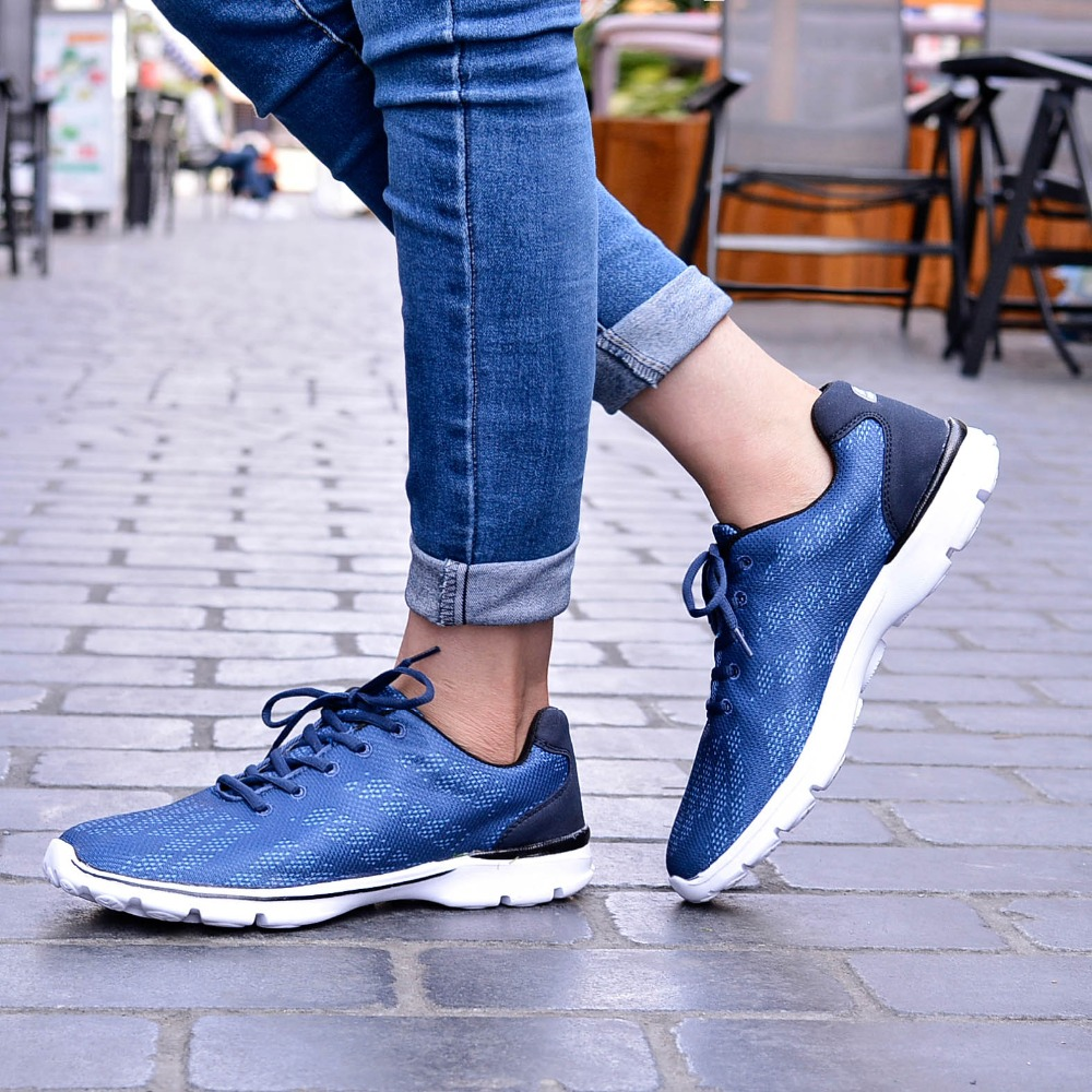 QANSI New Gradually Changing Color Women Running Shoes Spring Autumn Breathable Shoes Outdoor Sport Sneakers For Female 1678W 26
