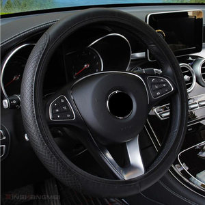 Image 4 - Fashion 6 Colors Car Steering Wheel Cover Volant Artificial Leather Braid on the Steering wheel Funda Volante Auto Car Styling