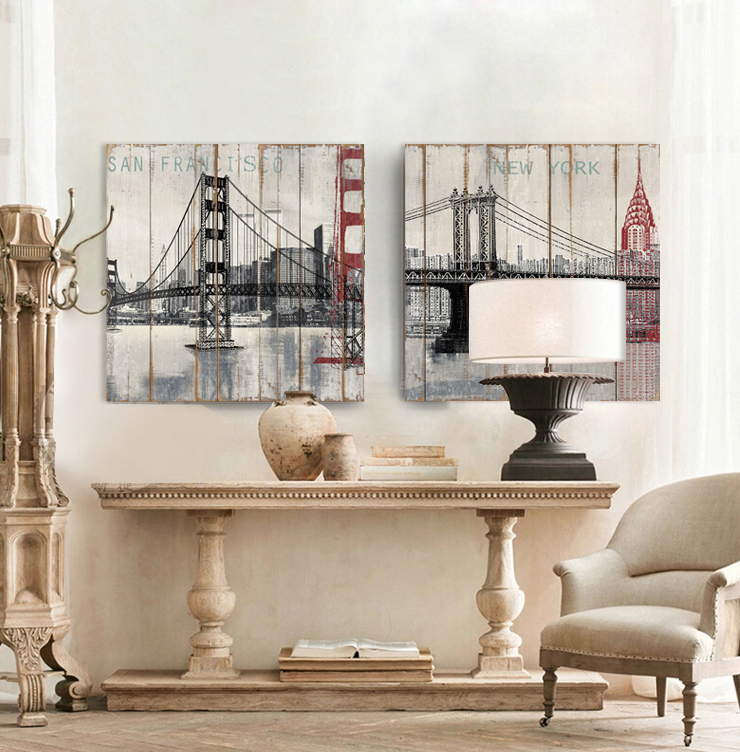 Buy 2015 Wood New York Brooklyn Bridge