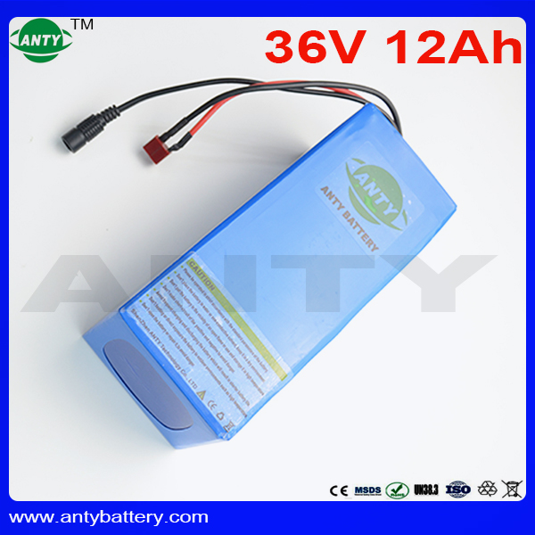 eBike Battery 36v 12ah 500w Lithium ion Battery 36v Built in 15A BMS for Electric Bike Motor with 42v 2A Charger Free Shipping
