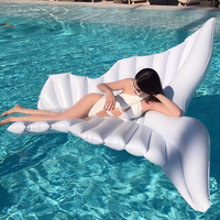 180cm Giant Angel Wings Inflatable Pool Float White Air Mattress Lounger 1