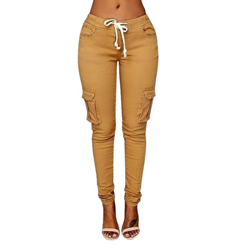 Women's Ladies Casual High Waist Pencil Pants Trousers