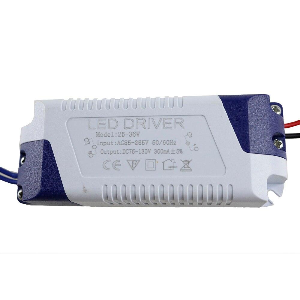 (25-36)x1W LED External Driver 300mA DC 75V ~ 130V Led Driver 25W 27W 30W 31W 35W 36W Power Supply AC 110V 220V for LED lights garbage tongs
