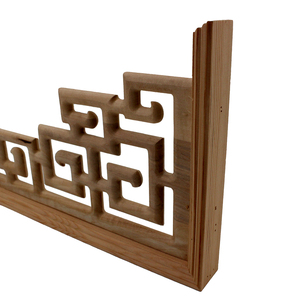 Image 5 - Chinese Style  Home Wedding  Accessories Furniture Appliques Wood Carving Corner Wooden Decor Frame Wall Door Woodcarving Decal
