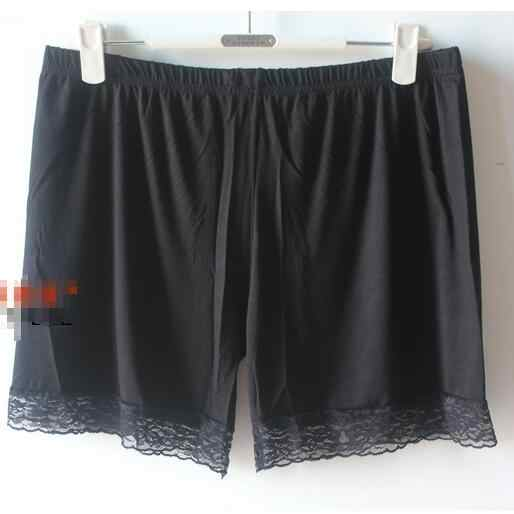 Clobee Shorts Mulheres 2018 de Grandes Dimensões Mulheres Shorts de Cintura Elástica Patchwork de Renda Sexy Feminino Desgaste Preto Bottoms Shorts M837