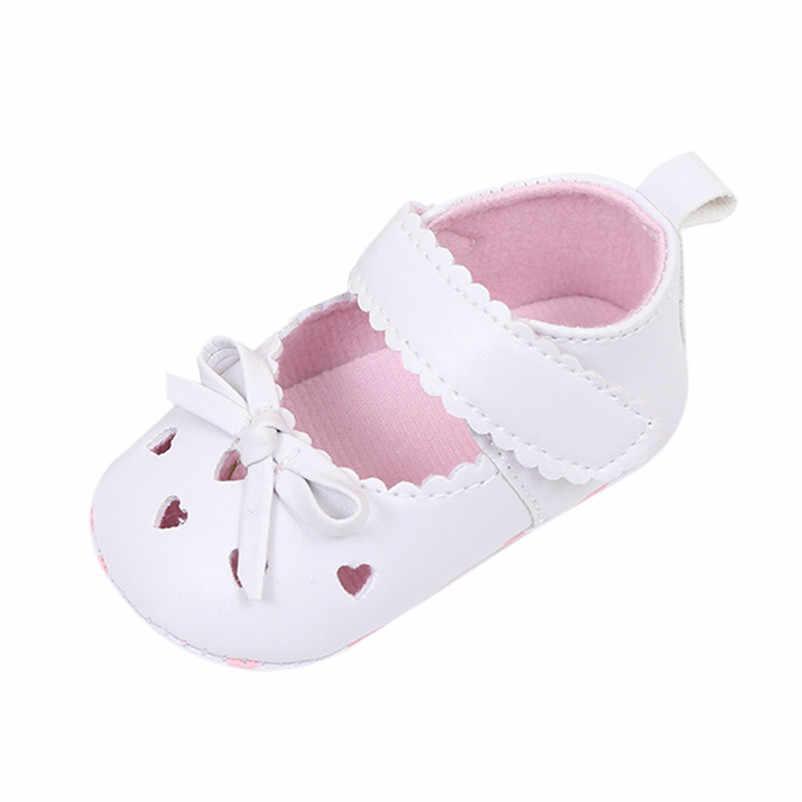 Na co dzień lato noworodek niemowlę dziecko dziewczyny szopka buty miękka podeszwa antypoślizgowe trampki Bowknot gorąca sprzedaży modne buty dziewczęce na sprzedaż