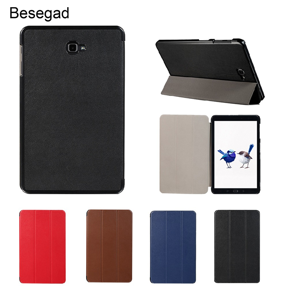 Besegad Mini Ultra Thin Foldable Smart Cover Case Skin Shell Stand Holder for <font><b>Samsung</b></font> Galaxy Tab A T580 T585 <font><b>T</b></font> 580 <font><b>T</b></font> <font><b>585</b></font> Gadgets image