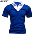 2017 New Fashion Spliced Polo Slim Fit Cotton Men Clothes Fake Two Male Polo Shirt Short Sleeve Summer topsMXC0280