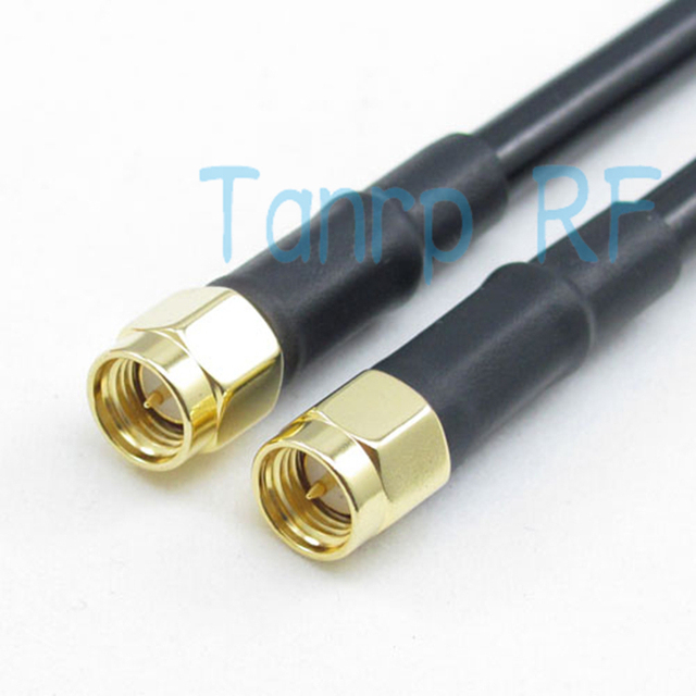 Freeshipping! RF Pigtail jumper coaxial cable 6FEET RG58 2M SMA male plug to SMA male plug 200CM  wholesale