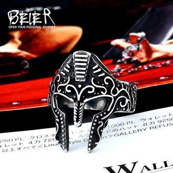 BEIER 316L anillo de acero inoxidable Vintage para hombres máscara Antigua Roma joyería de moda regalo Dropshipping LLBR8-609R