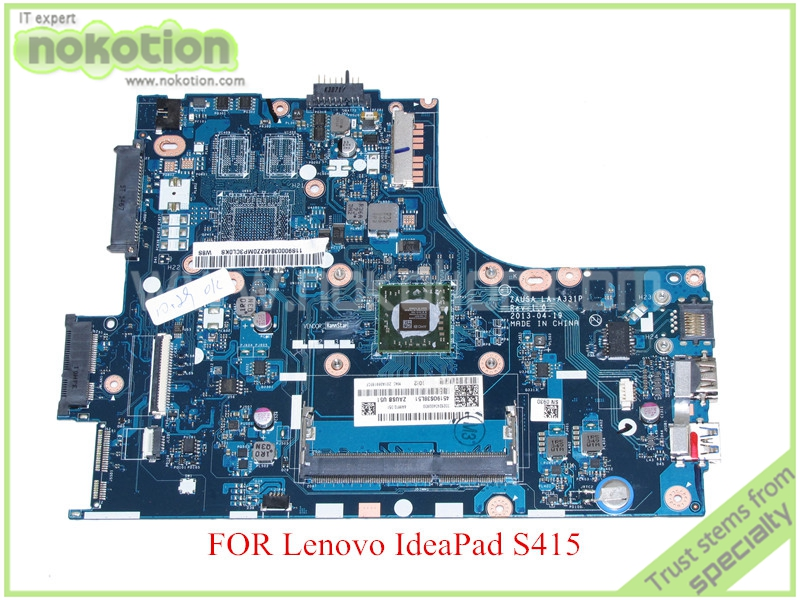 NOKOTION ZAUSA LA-A331P Rev 1.0 for lenovo UltraBook S415 Laptop motherboard A4-5000 CPU DDR3 eg70 eg70bz rev 2 0 for gateway ne71b ne71b06u laptop motherboard e2 1800 cpu ddr3