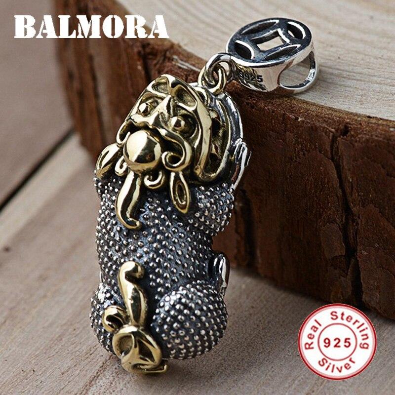 BALMORA de Plata de Ley 925 valientes tropas colgantes para las mujeres los hombres accesorios regalo Vintage joyería Animal sin una cadena SY14433