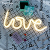 DELICORE Warm White Fairy Holiday Neon Night Light Love Shaped LED Lamp For Baby Bedroom Decoration