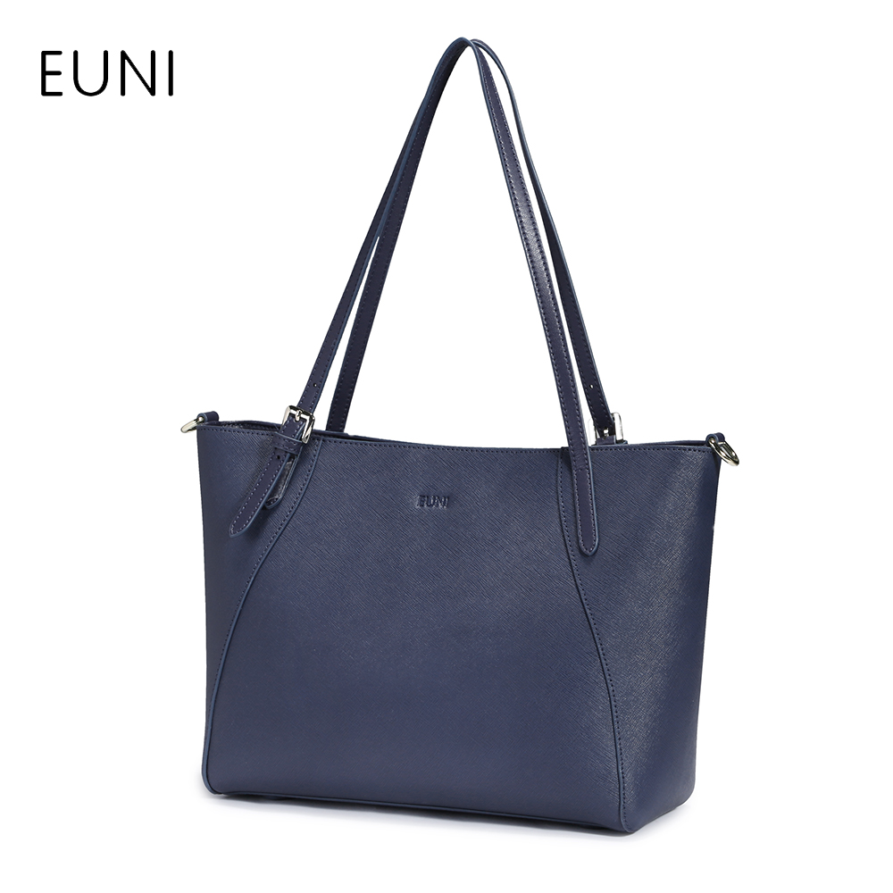 EUNI Handbag Women Bag Designer Leather Shoulder Bags For Women's High Quality Tote Bag Ladies Fashion Crossbody Bags aosbos fashion portable insulated canvas lunch bag thermal food picnic lunch bags for women kids men cooler lunch box bag tote