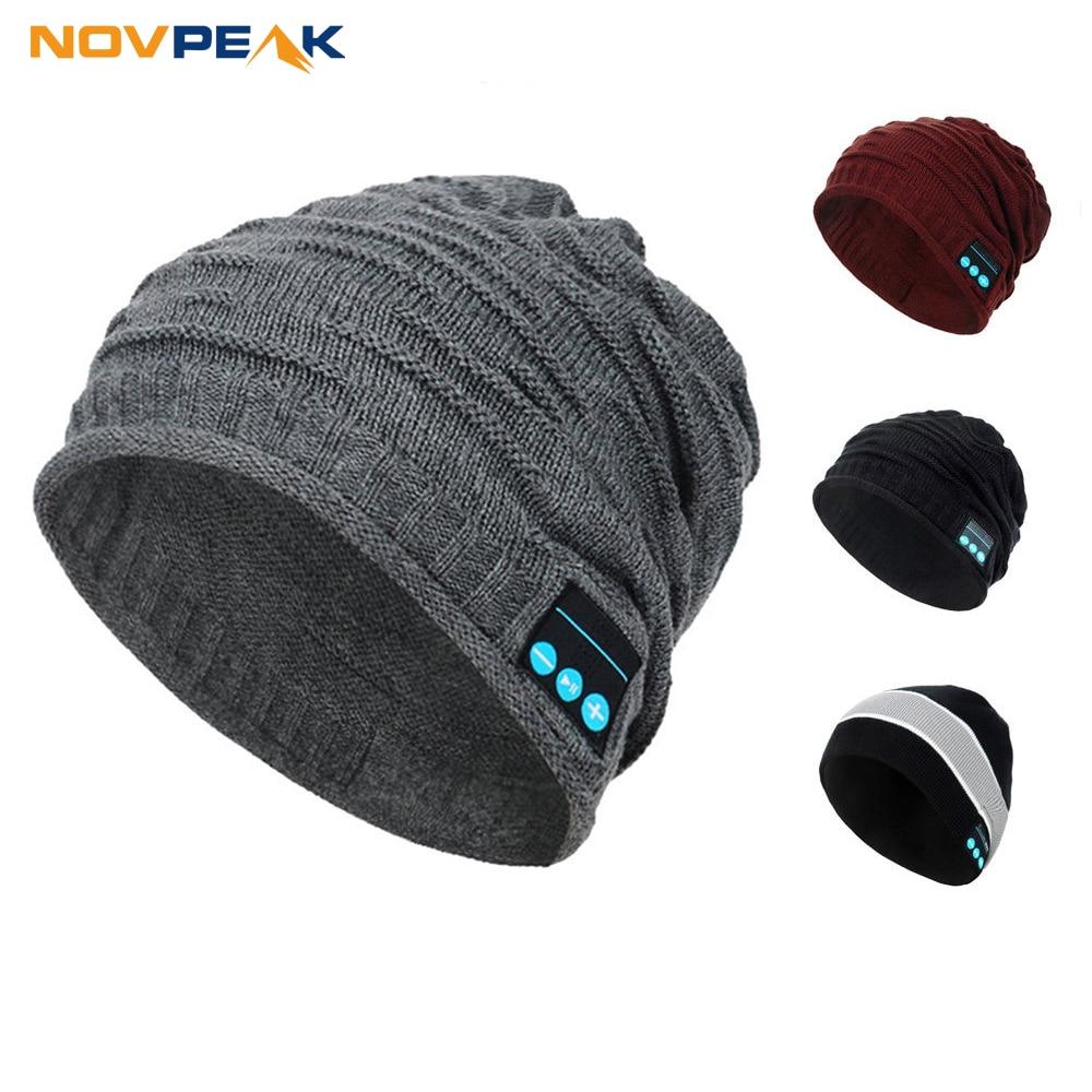 Bluetooth Music Warm Beanie Hat Wireless Smart Cap Headset Headphone Speaker Mic sport bluetooth music hat cap handsfree headset headphone built in speaker mic