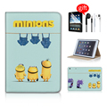 Cute Minions Jeans Stand Magnetic Function Tablet Case Skinfor Ipad Mini 1 2 3 Case Ipad Mini Case Leather Free Earphone