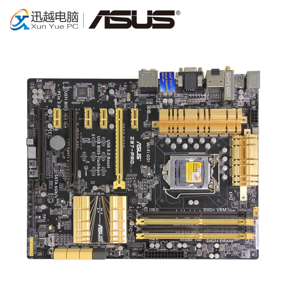 Asus Z87-PRO Desktop Motherboard Z87 Socket LGA 1150 i7 i5 i3 DDR3 32G 7*PCIE SATA3 USB3.0 VGA DVI HDMI DP ATX high quality h61 itx motherboard dvi hdmi vga solid dual pcie industrial motherboard 100