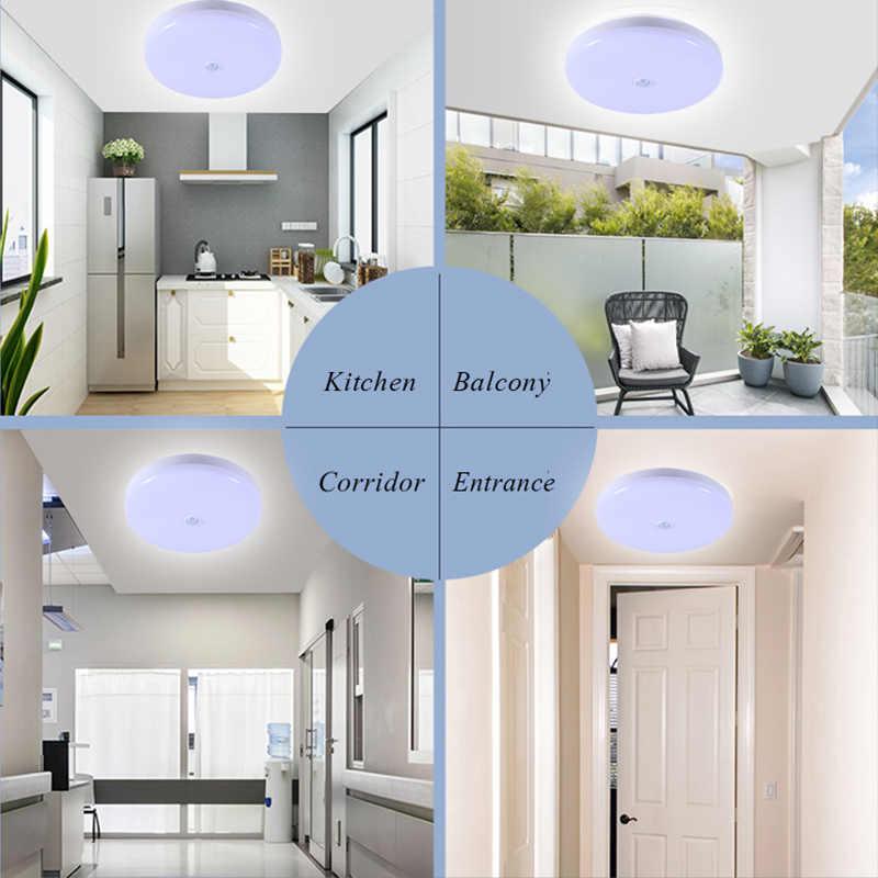 إضاءة السقف محس حركة/الإنسان التعريفي الذكية PIR led أضواء السقف تركيبات الحمام الممر الدرج شرفة مصابيح السقف