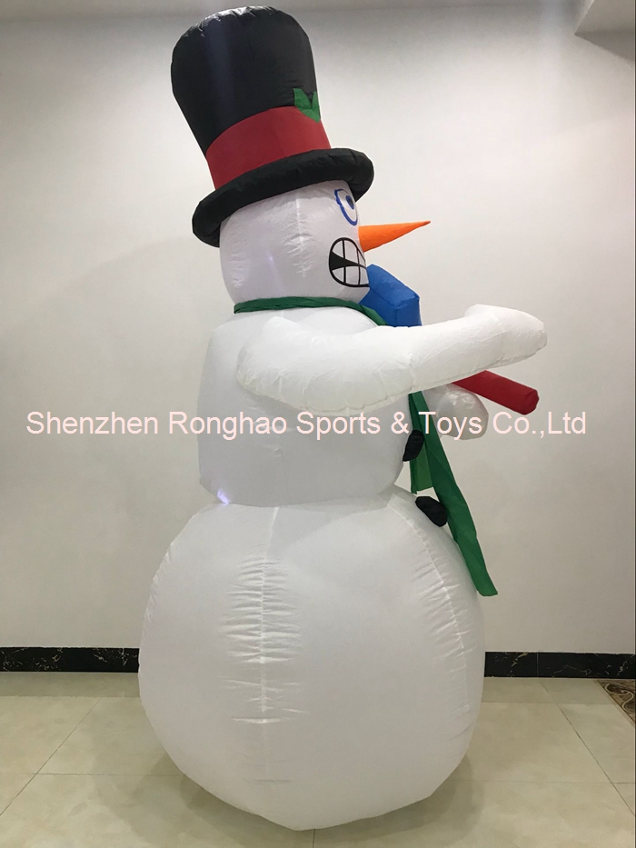 180Cm Inflatable Snowman Shivering With Lights Christmas Decoration